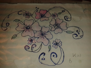 beginner calligraphy-flowers