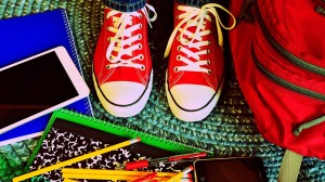 RED PLIMSOLLS SURROUNDED BY CRAYONS