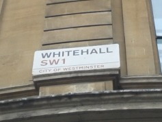 road sign: whitehall